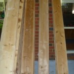 The linning boards was stripped in caustic.