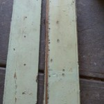 The linning boards will be stripped in caustic.