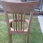 The chair was stripped in non-caustic.