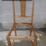 Dinning chair stripped in non-caustic timber (Tas oak)