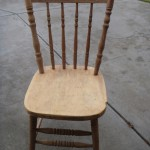 kangaroo chair stripped in non-caustic