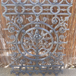 cast iron fret work stripped in caustic