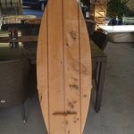 surf board chair stripped in non-caustic
