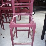 Bar Stool was stripped in non-caustic of a Hotel Timber(Beech)