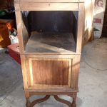 Record Player early 1900 Stripped non-caustic Timber (Australian cedar)
